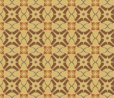 ginkgo_nouveau fabric by capiscit on Spoonflower - custom fabric