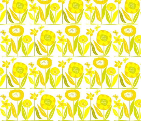 daffodilly fabric by antoniamanda on Spoonflower - custom fabric