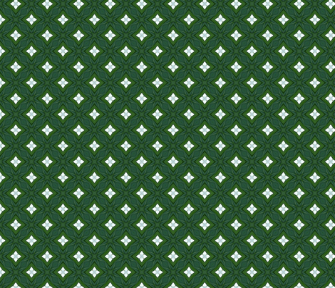 Green Diamonds and White Stars D-4 fabric by khowardquilts on Spoonflower - custom fabric