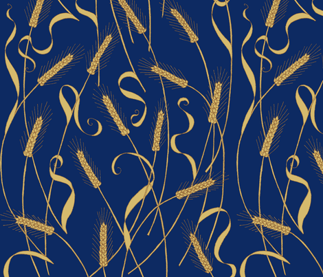 art_nouveau_wheat_tight-ch fabric by victorialasher on Spoonflower - custom fabric