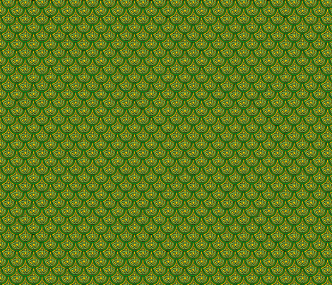 celtic scale 1 green and gold fabric by ingridthecrafty on Spoonflower - custom fabric