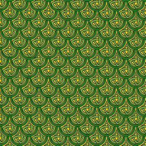 celtic scale 1 green and gold