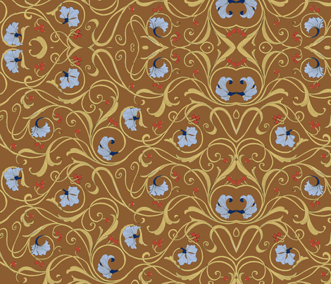 Art Nouvine fabric by ceanirminger on Spoonflower - custom fabric