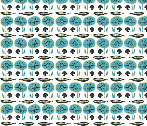 blue_mushroom fabric by antoniamanda on Spoonflower - custom fabric