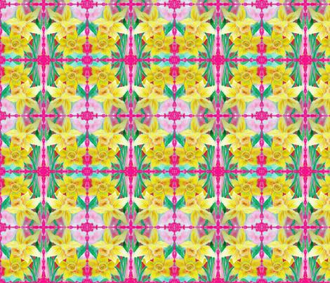 pink edge daffy fabric by buckysmom on Spoonflower - custom fabric