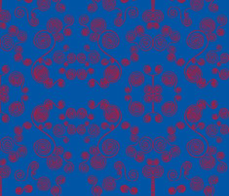JamJax Blue Dizzy fabric by jamjax on Spoonflower - custom fabric
