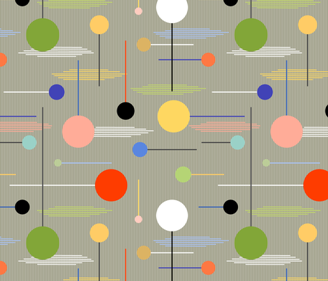 Lollypoppy (Earth) fabric by artcafe on Spoonflower - custom fabric