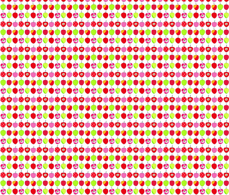 Tiny sweet and sour apples fabric by syko on Spoonflower - custom fabric