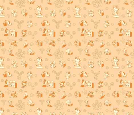 Golden Book Animals fabric by tiny_kitten_teeth on Spoonflower - custom fabric