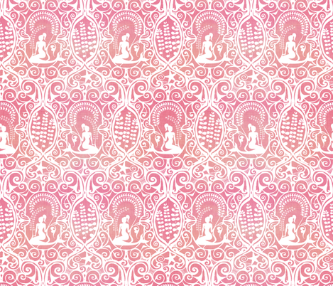 Mermaid Shell Pink fabric by spellstone on Spoonflower - custom fabric