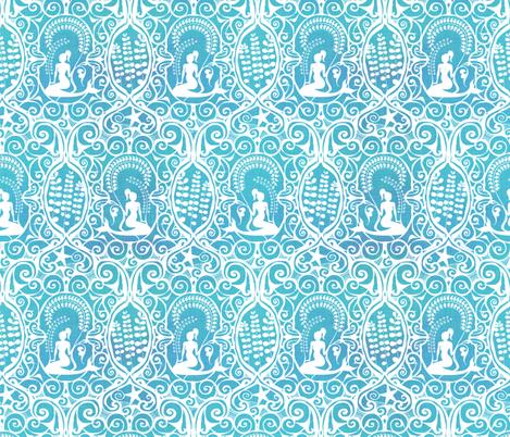 Mermaid Ocean fabric by spellstone on Spoonflower - custom fabric