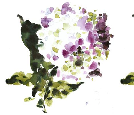C'EST LA VIV™ Garden Lark Collection_Single Hydrangea  fabric by cest_la_viv on Spoonflower - custom fabric
