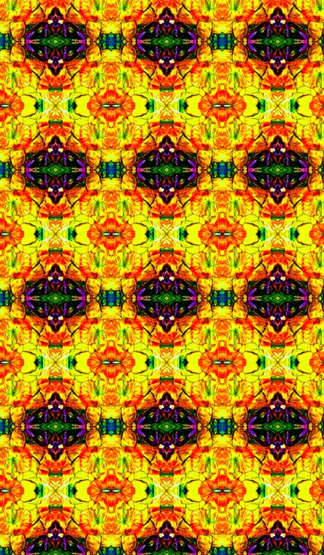 Mirrored Daffodils fabric by frances_hollidayalford on Spoonflower - custom fabric