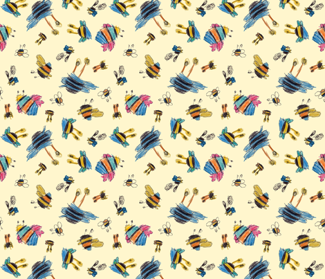 Bubbie's bees fabric by weavingmajor on Spoonflower - custom fabric