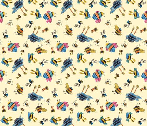 Bubbie's bees fabric by weavingmajor on Spoonflower - custom fabric