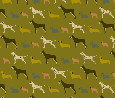 dog_show fabric by troismiettes on Spoonflower - custom fabric
