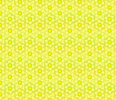 Circle Daffodils fabric by andrea_kopacek on Spoonflower - custom fabric