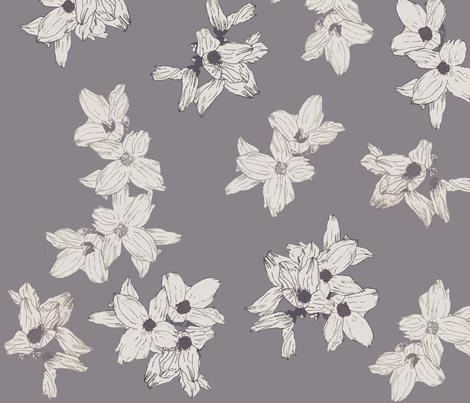 white_flowers_fabric fabric by j_brown on Spoonflower - custom fabric