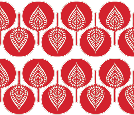 tree_hearts_in_red fabric by holli_zollinger on Spoonflower - custom fabric