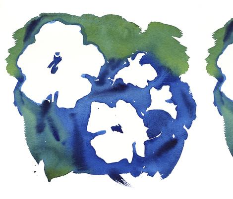 C'EST LA VIV BLUE WHITE CLUSTER fabric by @vivsbeautifulmess on Spoonflower - custom fabric