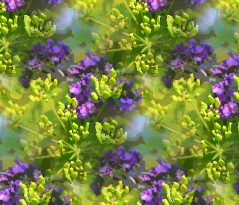 Buddleia and parsnip fabric by vib on Spoonflower - custom fabric