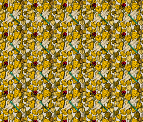 bugs in the bush -fall fabric by raul on Spoonflower - custom fabric