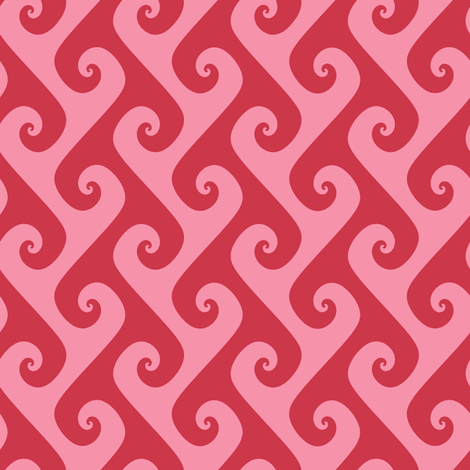 Tendrils in Spring Floral pink and red fabric by weavingmajor on Spoonflower - custom fabric