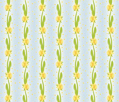 Daffodil Stripe fabric by ophelia on Spoonflower - custom fabric
