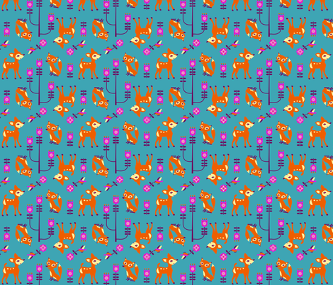 bambi fabric by ruusulampi on Spoonflower - custom fabric