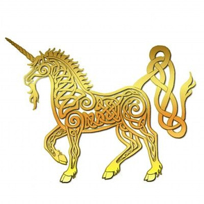 celtic unicorn 4 gloss gold