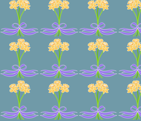 daffodil posies fabric by vo_aka_virginiao on Spoonflower - custom fabric