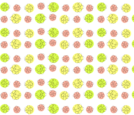 daffodil dots fabric by ali_c on Spoonflower - custom fabric
