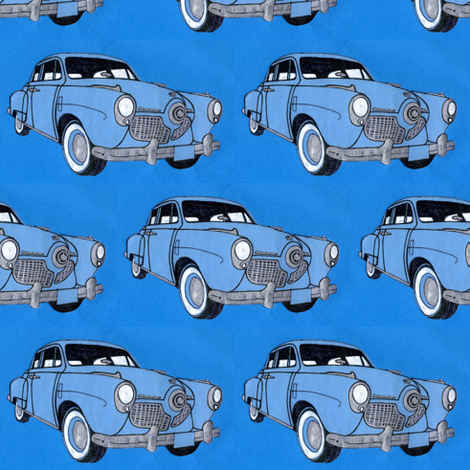 1951 bulletnose Studebaker fabric by edsel2084 on Spoonflower - custom fabric
