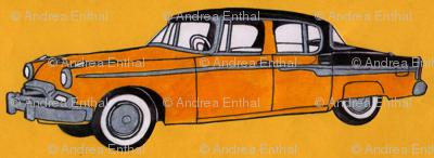1955 Studebaker in orange