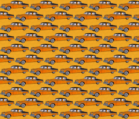 1955 Studebaker in orange fabric by edsel2084 on Spoonflower - custom fabric