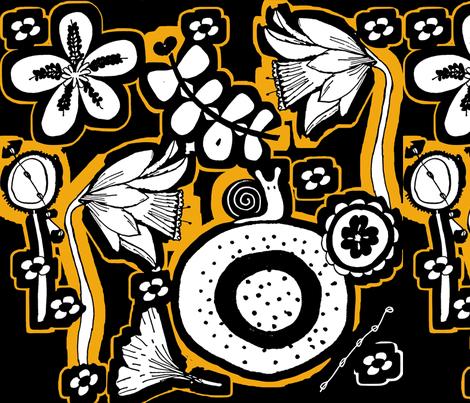 daffodillz fabric by sbd on Spoonflower - custom fabric