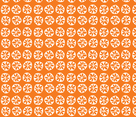 orange lotus root fabric by clearlytangled on Spoonflower - custom fabric