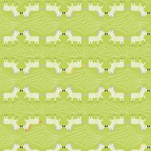 Safari Sweet Green Geometric Zebra