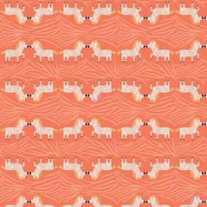 Safari Sweet Red Geometric Zebra