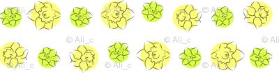 daffodil dots yellow green
