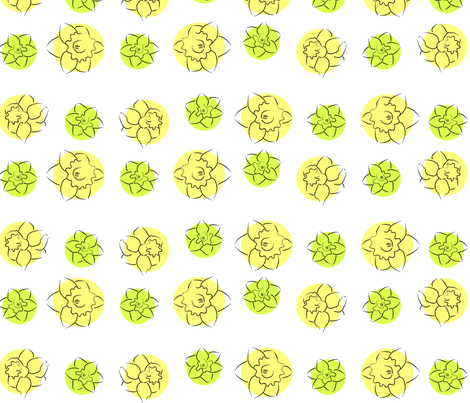 daffodil dots yellow green fabric by ali_c on Spoonflower - custom fabric