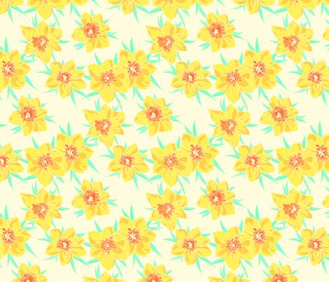 jonquilles fabric by thelazygiraffe on Spoonflower - custom fabric