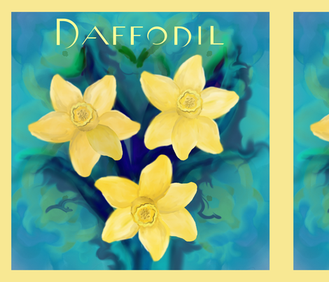 daffodil_panel4 fabric by beena_singhal on Spoonflower - custom fabric