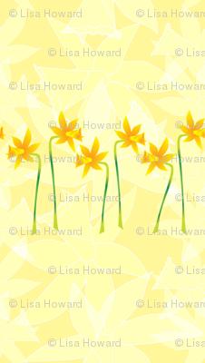 Daffodils in a row.  Copyright LdJ design 2010