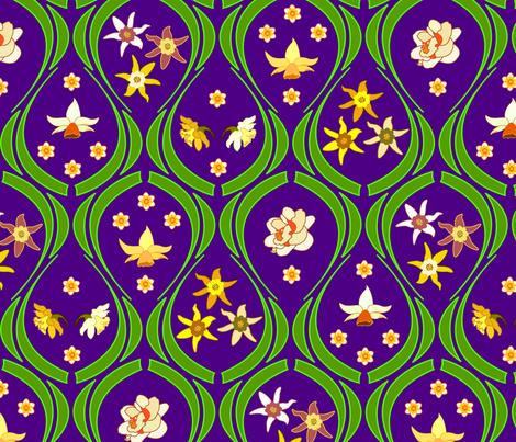 Garden fabric by andrea11 on Spoonflower - custom fabric