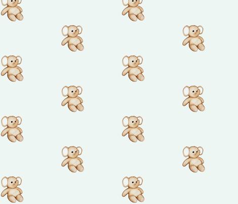 Small Stuffed Elephant fabric by mandollyn on Spoonflower - custom fabric