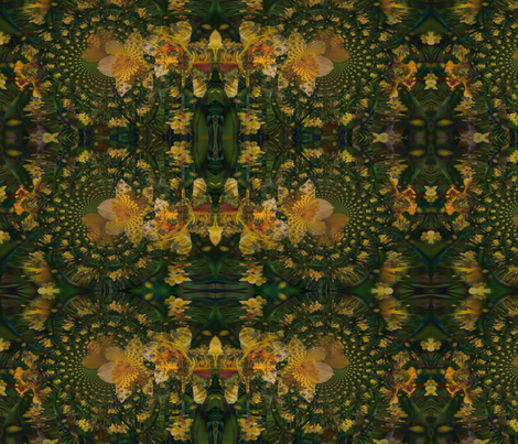 Hypnotic_Daffodils fabric by fleurdevive on Spoonflower - custom fabric