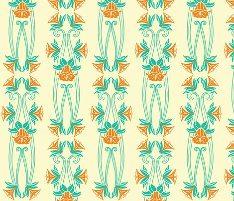 Arts and Crafts Daffodils fabric by designmagi on Spoonflower - custom fabric