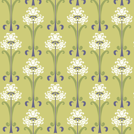 A Daffodilly Day fabric by designmagi on Spoonflower - custom fabric