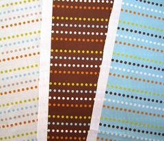 Dippy Dot - Polka Dot Stripe Brown